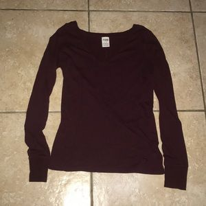 Pink Victoria's Secret Long Sleeve Top Large